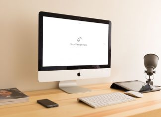 Free-Apple-iMac-Workplace-Mockup-PSD