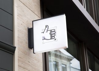 Free-Backlit-Hanging-Wall-Sign-Board-MockUp-PSD