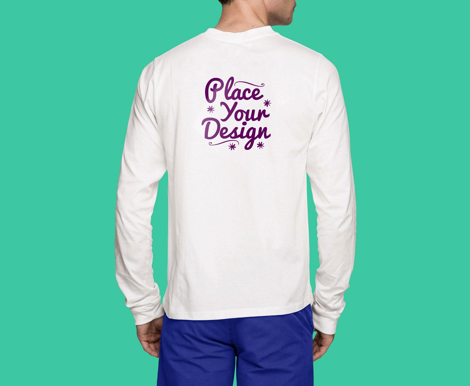 Free-Backside-White-Long-Sleeves-T-Shirt-Mockup-PSD