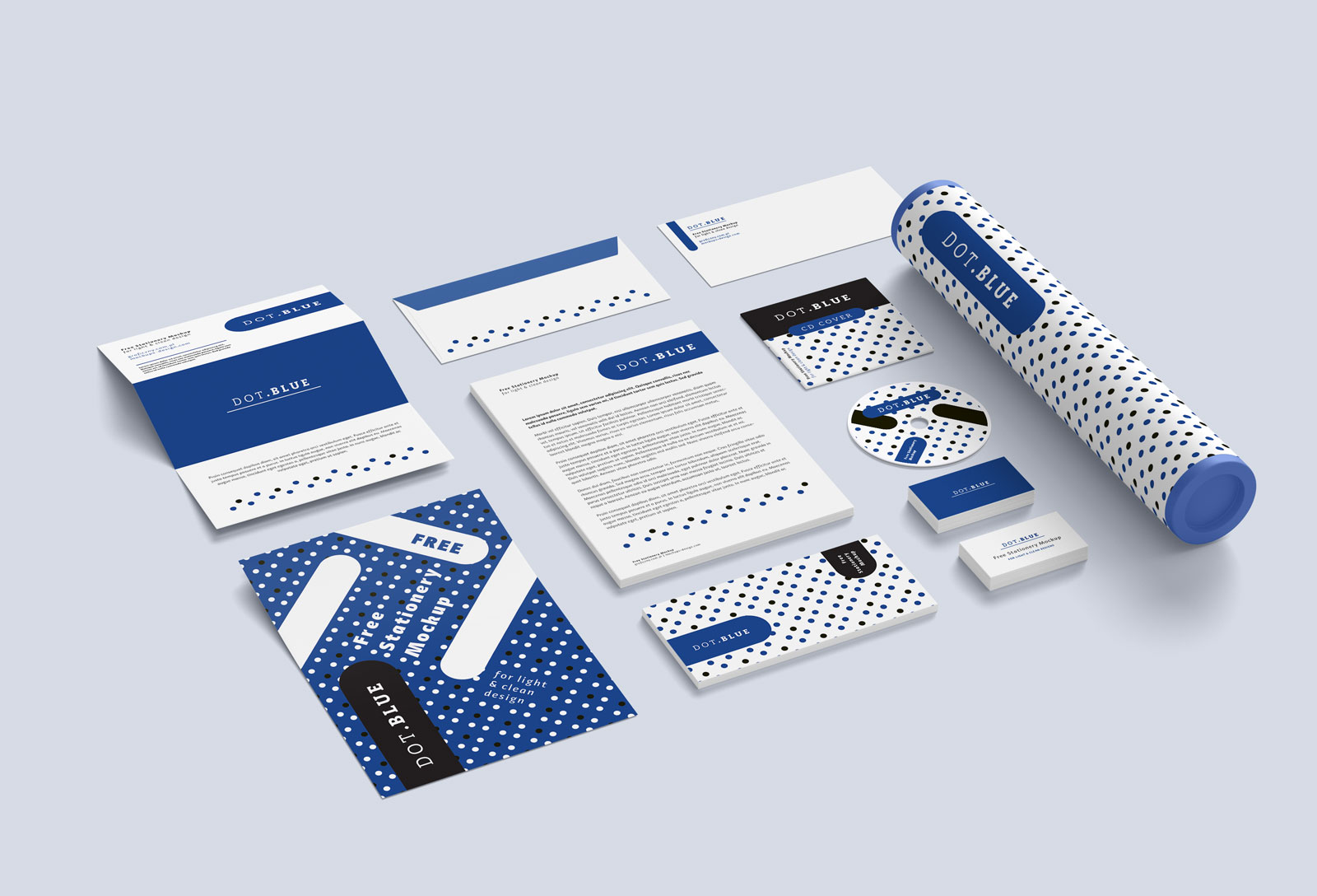 free branding    corporate identity    stationery mockup psd