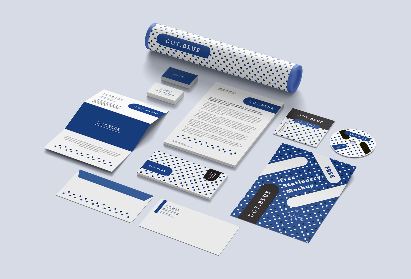 Free Branding Corporate Identity Stationery Mockup Psd