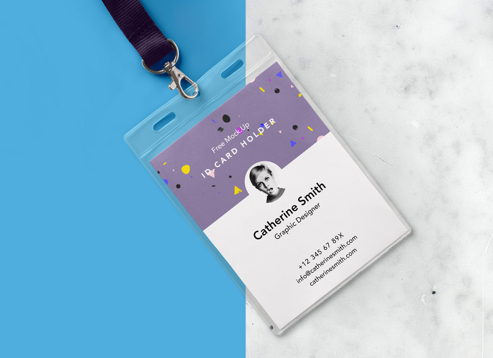Employee Identification Card Template Free Download from goodmockups.com