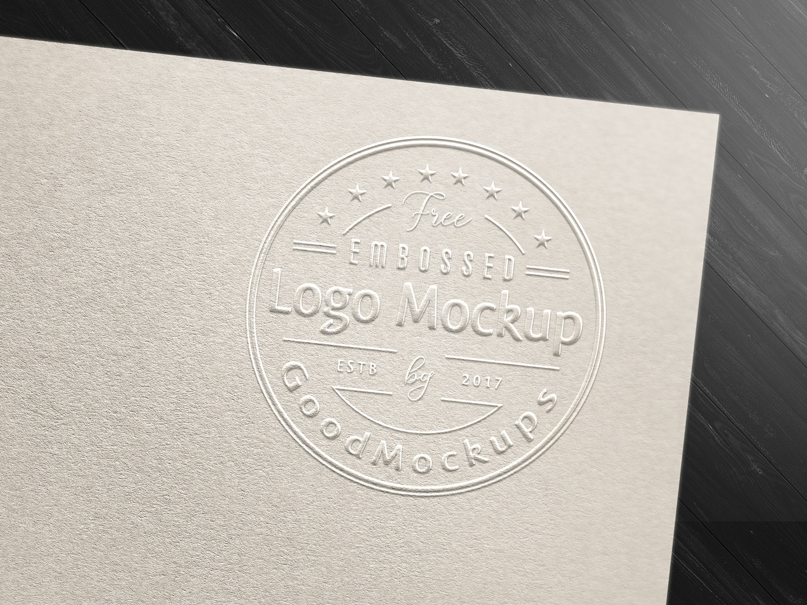 free fancy art card embossed logo mockup psd good mockups