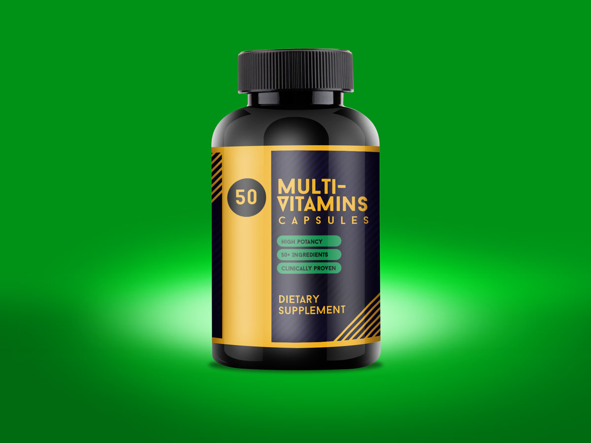 Free Multi Vitamin Bottle Mockup Psd Good Mockups