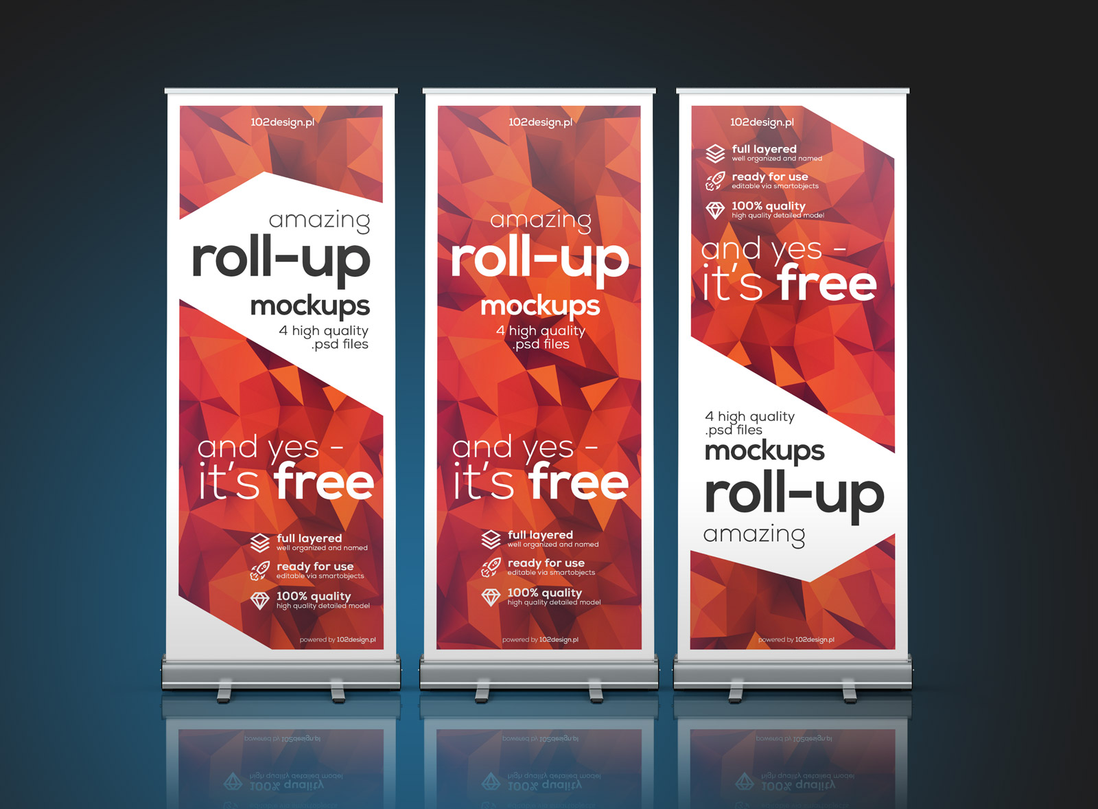 roll up banner psd