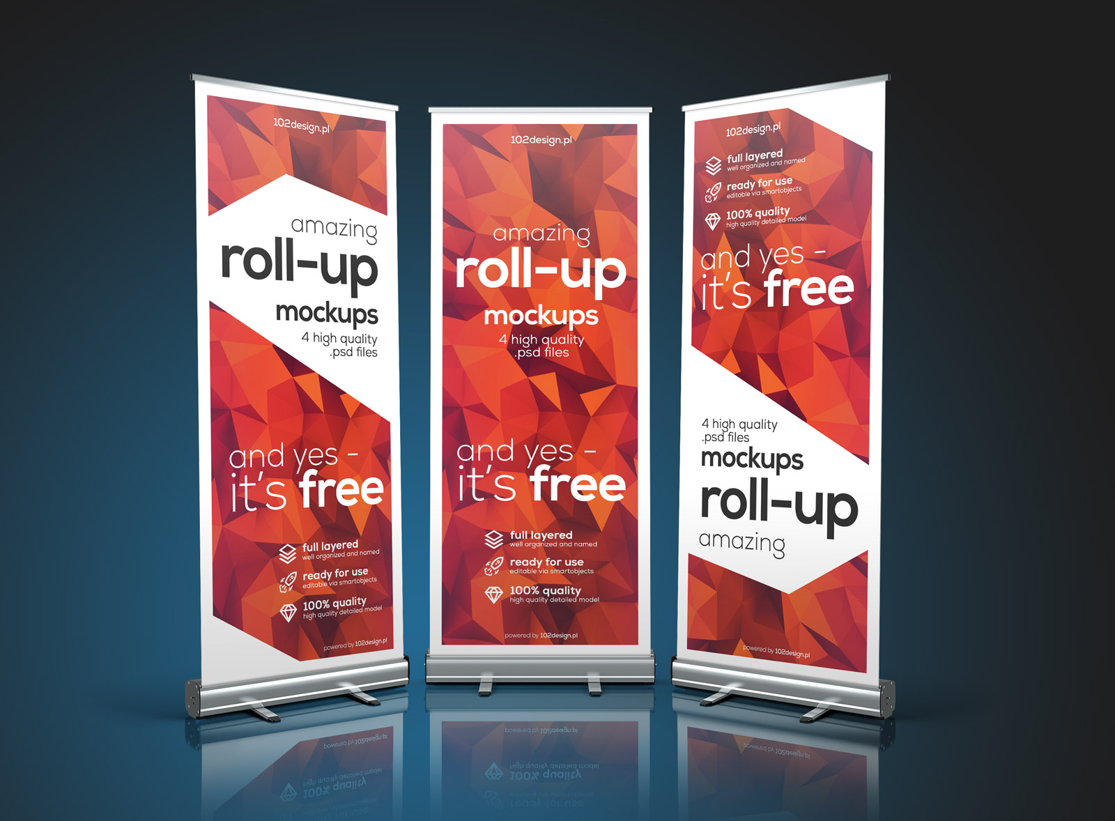 Free Premium Roll Up Banner Stand Mockup Psd Files Good