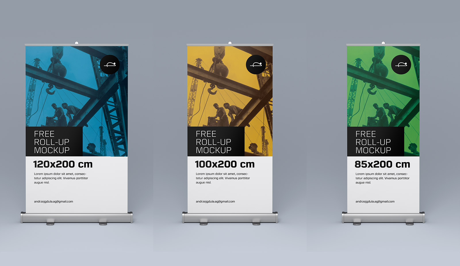 Free Roll Up Pull Up Banner Stand Mockup Psd Files