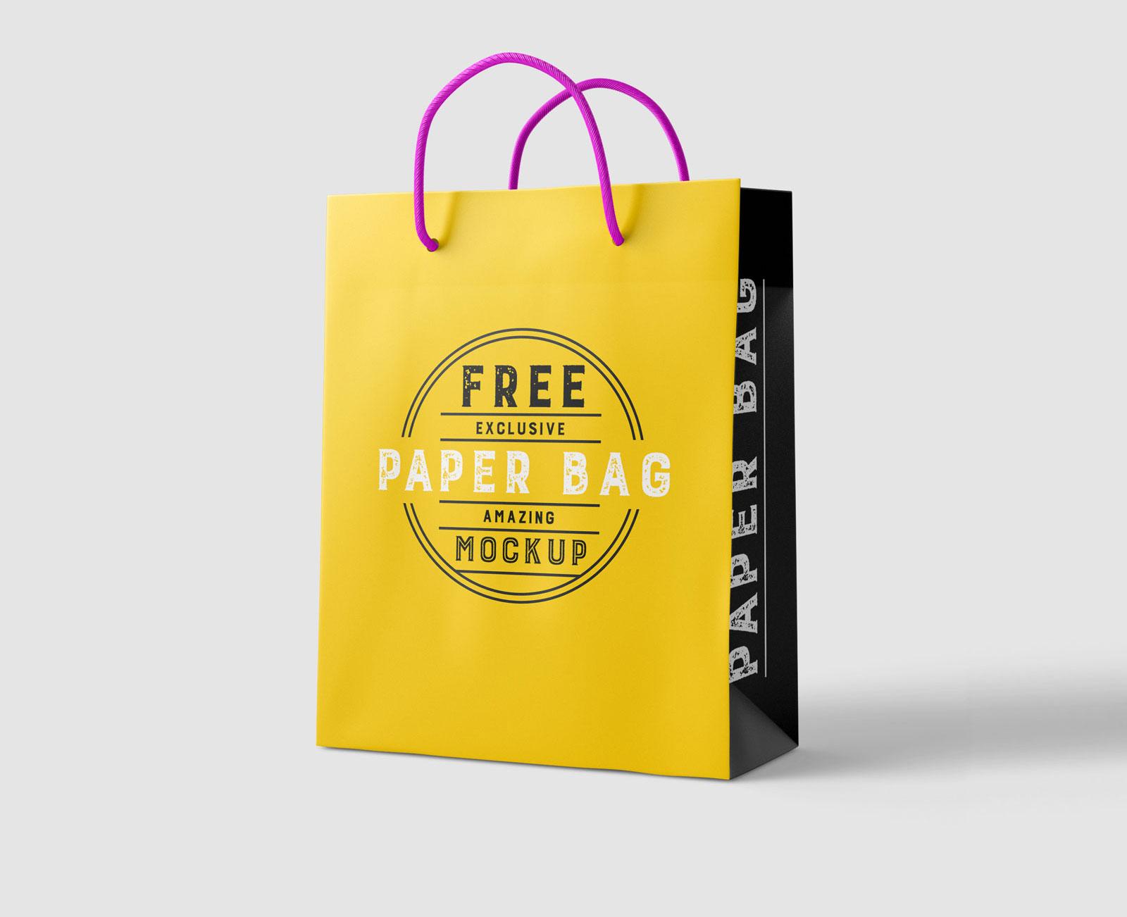Free White Paper Shopping Bag Mockup Psd Good Mockups
