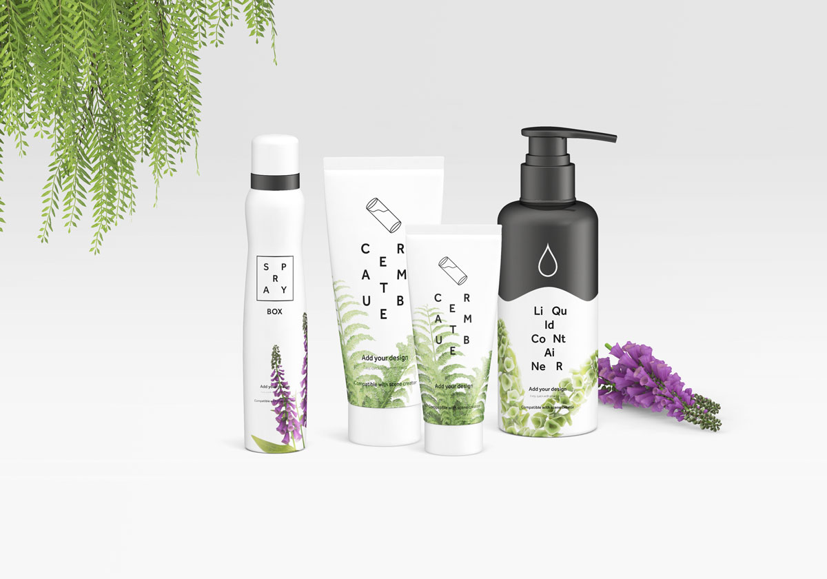 Free-Spray-Bottle,-Cream-Tube-&-Liquid-Container-With-Pump-Mockup-PSD