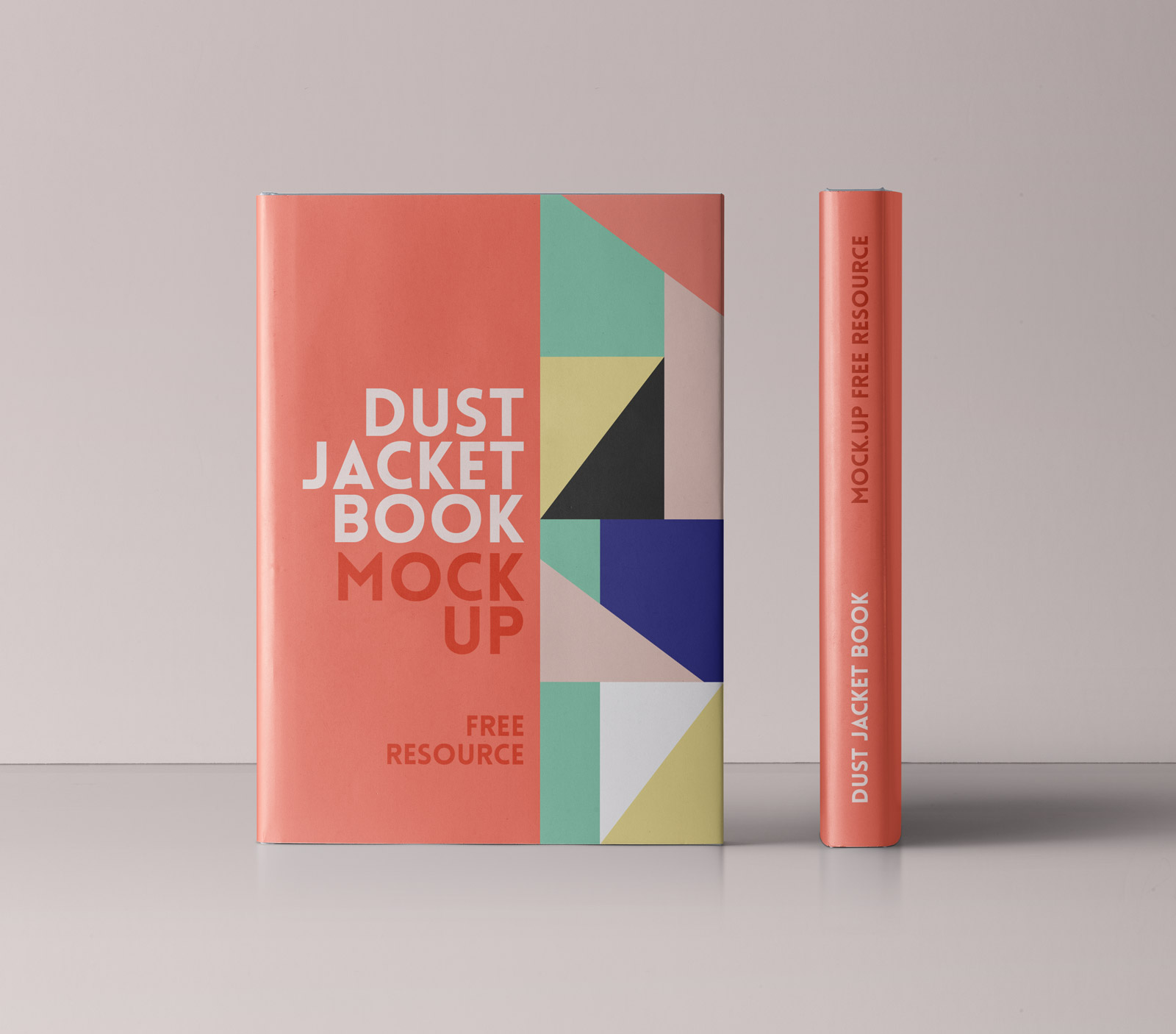 free title  u0026 spine of book mockup psd