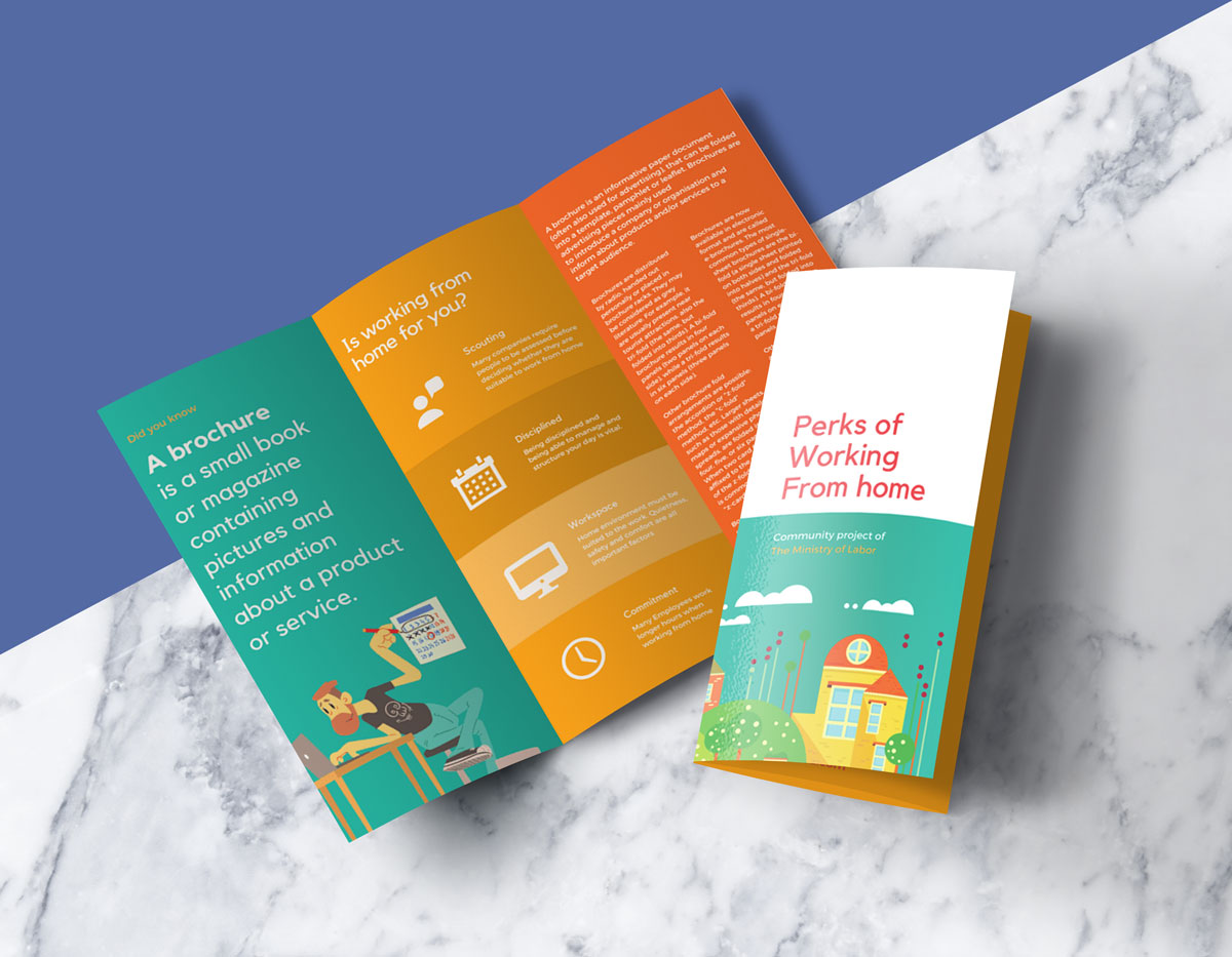 Free tri fold brochure mockup psd good mockups for Free brochure psd templates