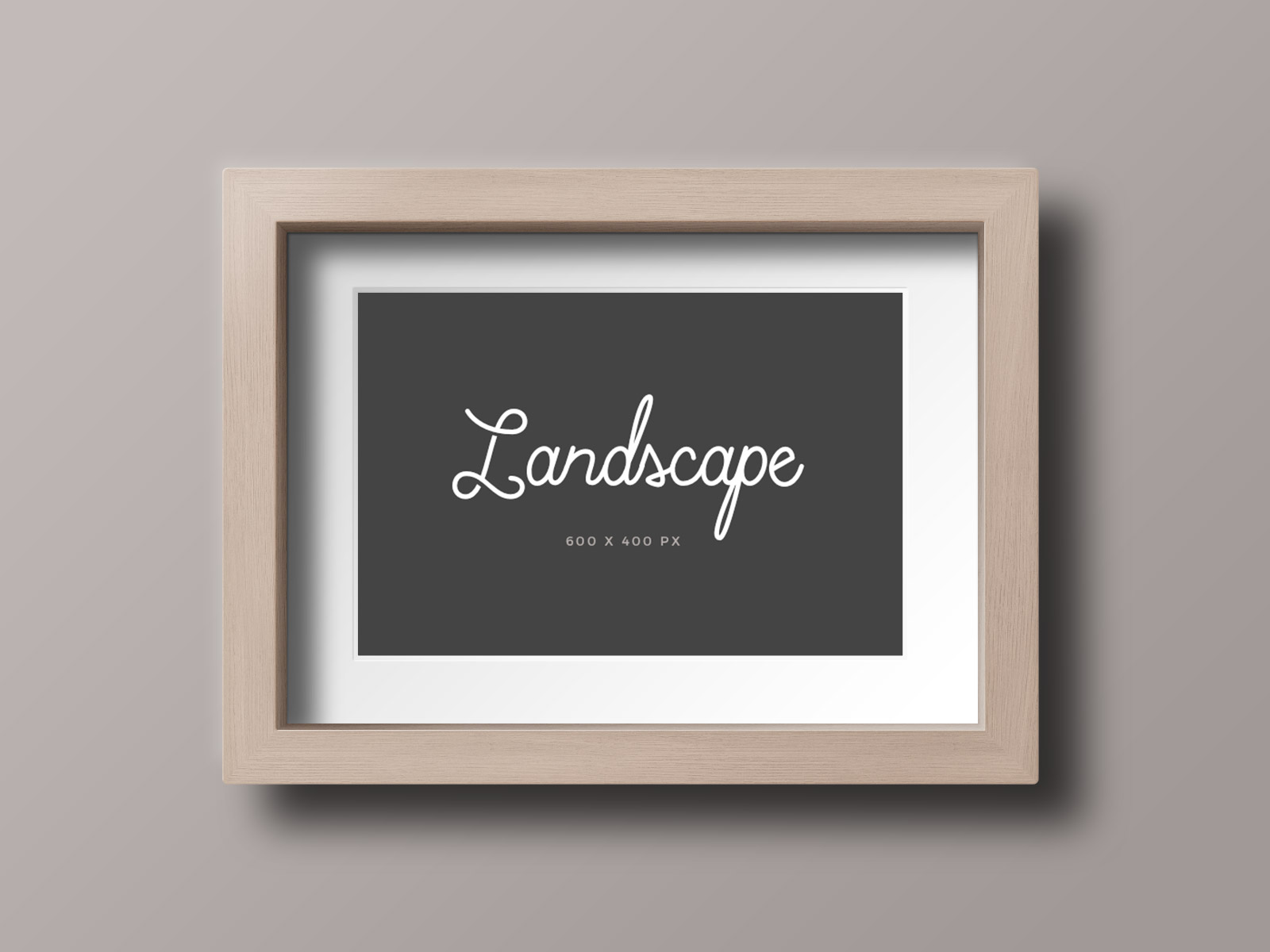 Free Wooden Photo Frame Mockup Psd Files Landscape