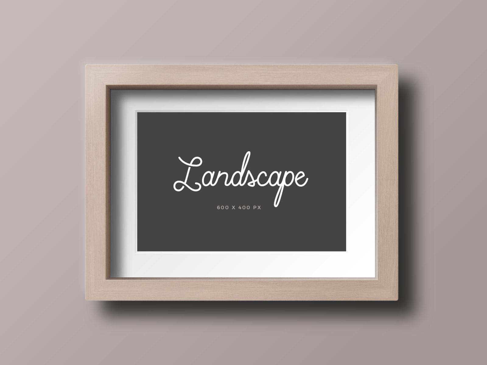 Free-Wood-Photo-Frame-Mockup-PSD-Landscape