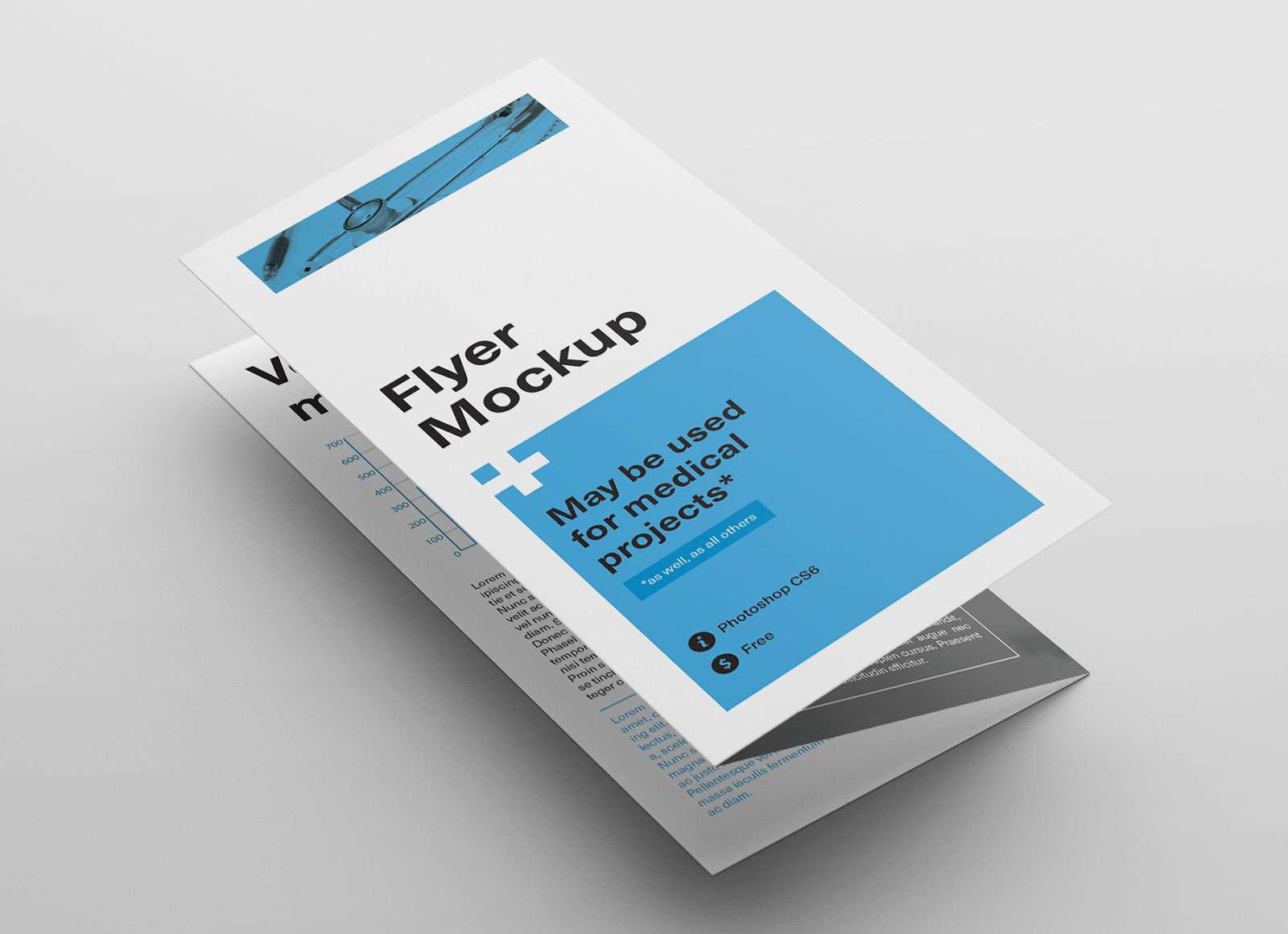 brochure mockup is professionally designed and all three pages are placed deliberately on the top of the layer panel so you do not need to find in grouped