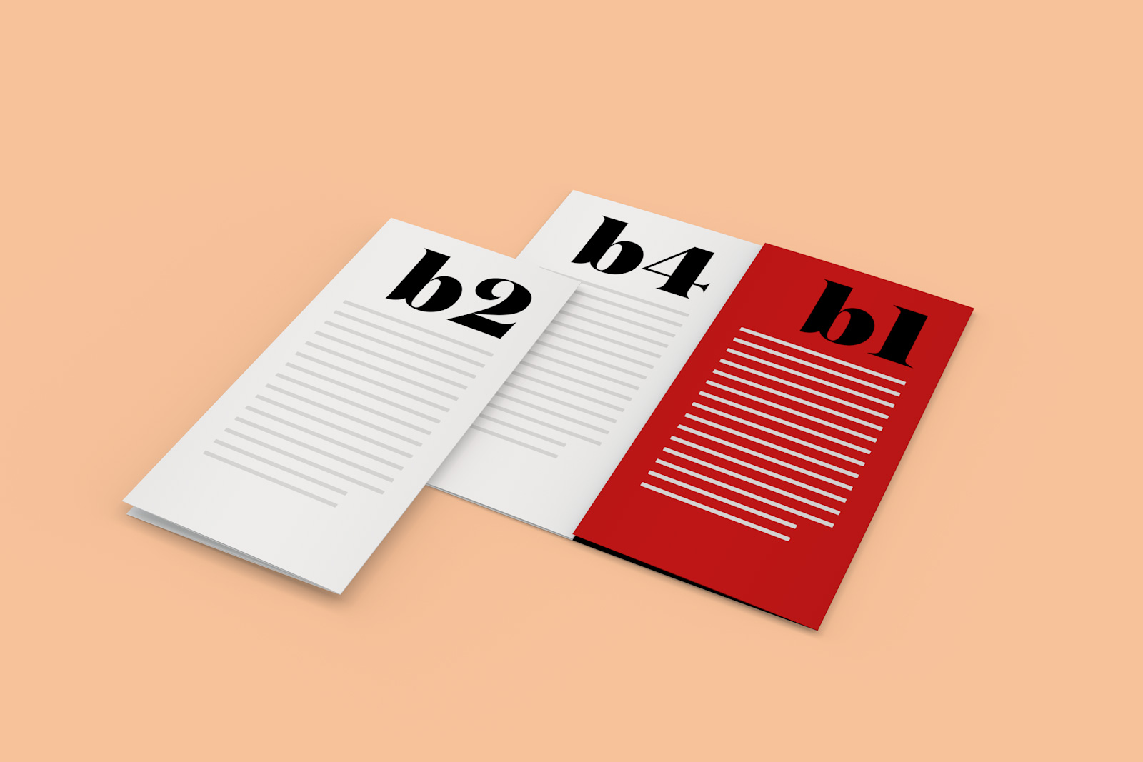 free 4-panel quad-fold brochure mockup psd