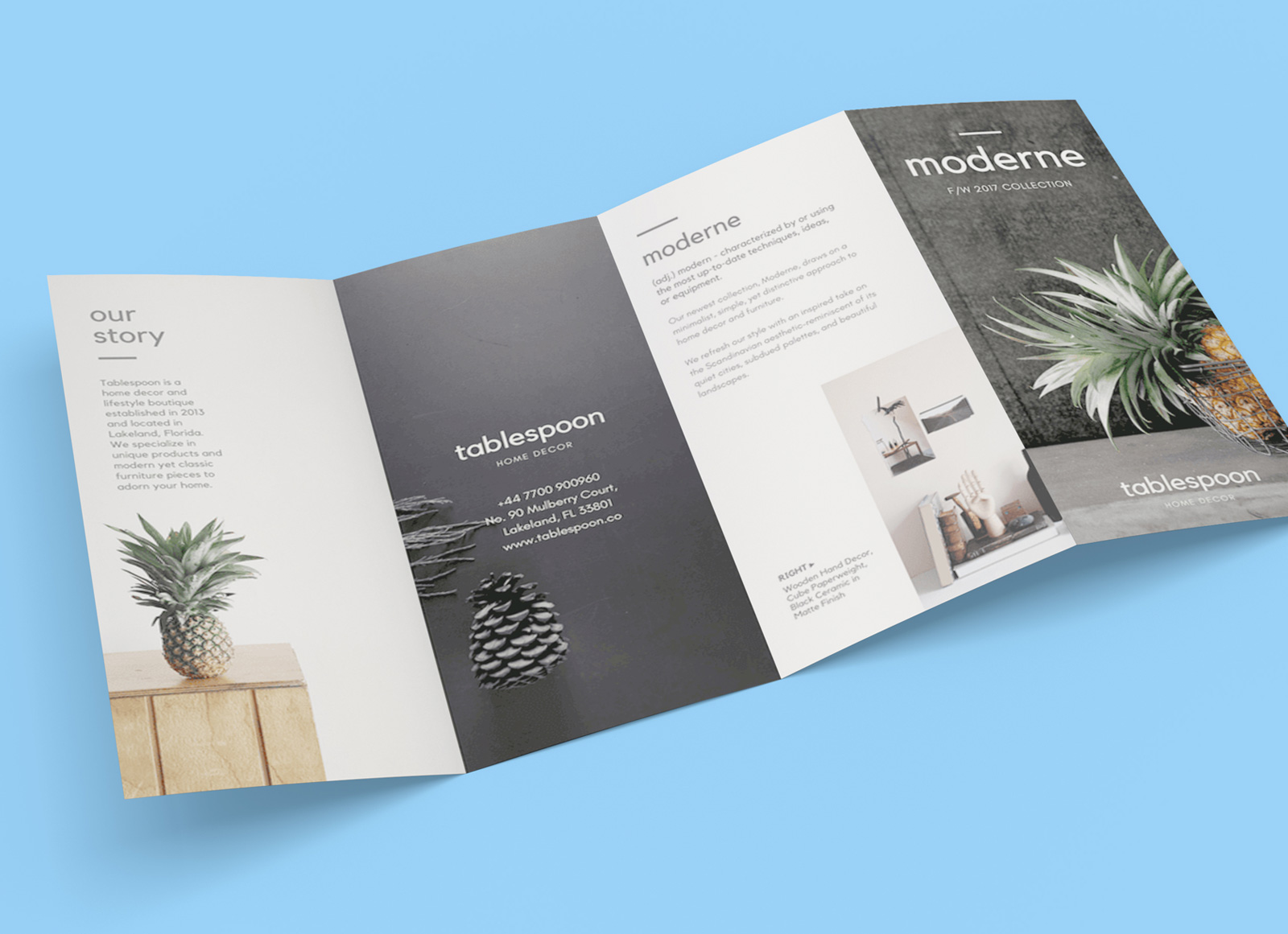 Free 4 Panel Quad Fold Brochure Mockup Psd Good Mockups