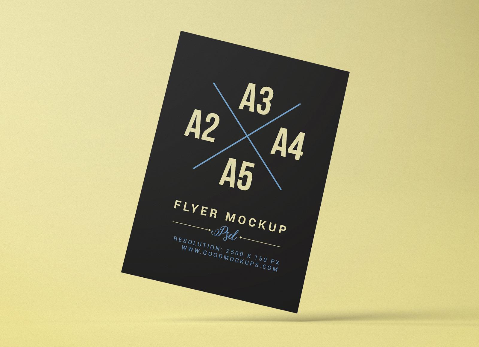 Free-A2-A3-A4-A5-Flyer-Mockup-PSD-File