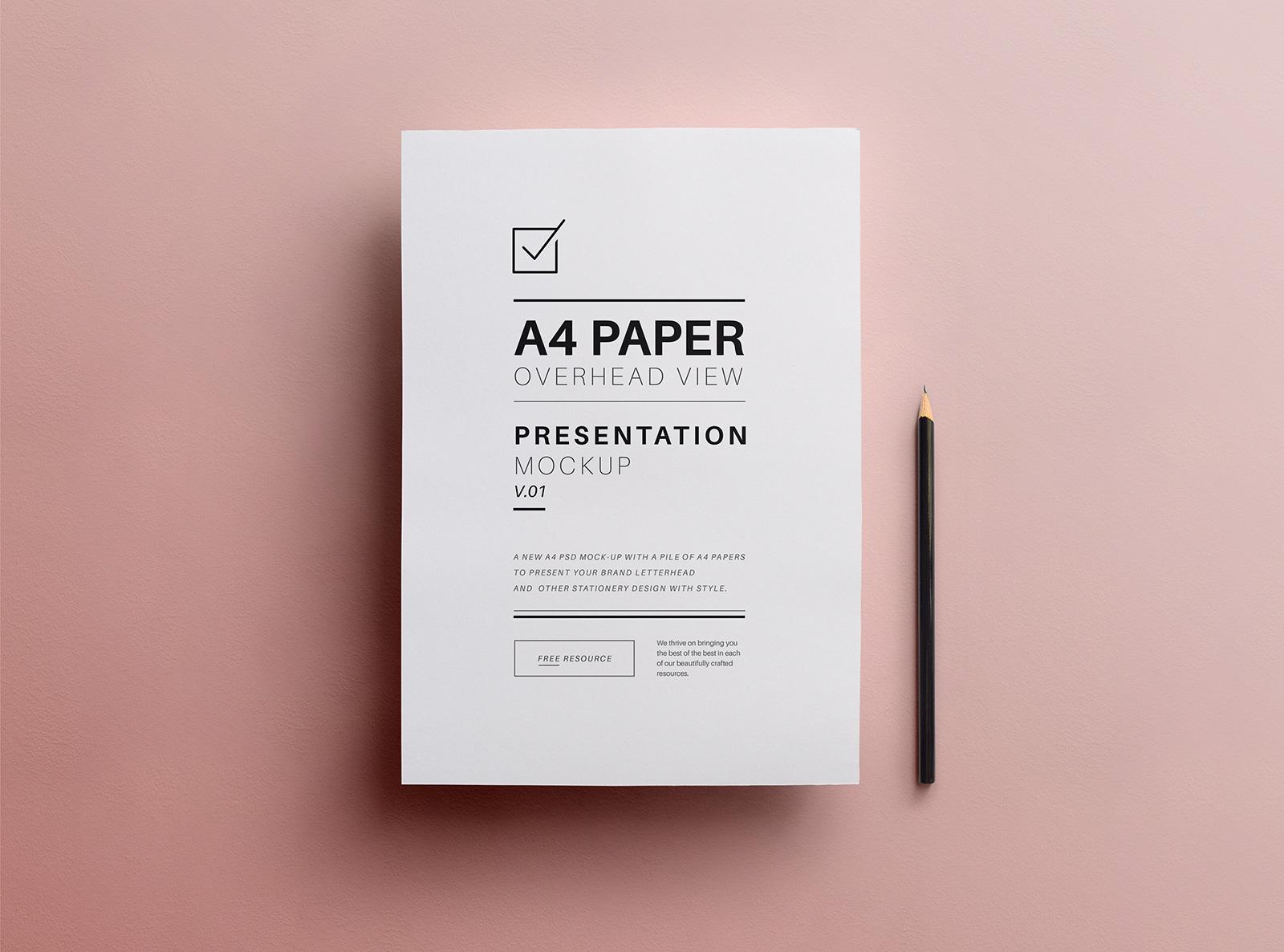 Free A4 Flyer Paper Mockup Psd Good Mockups