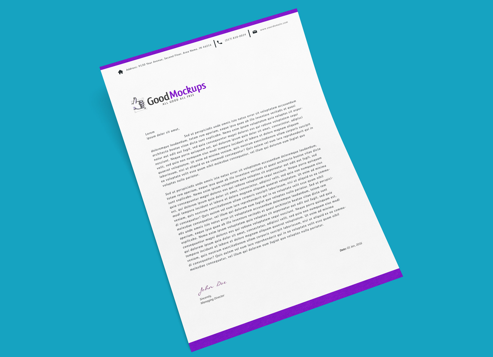 free a4 letter size paper mockup psd for letterhead flyer