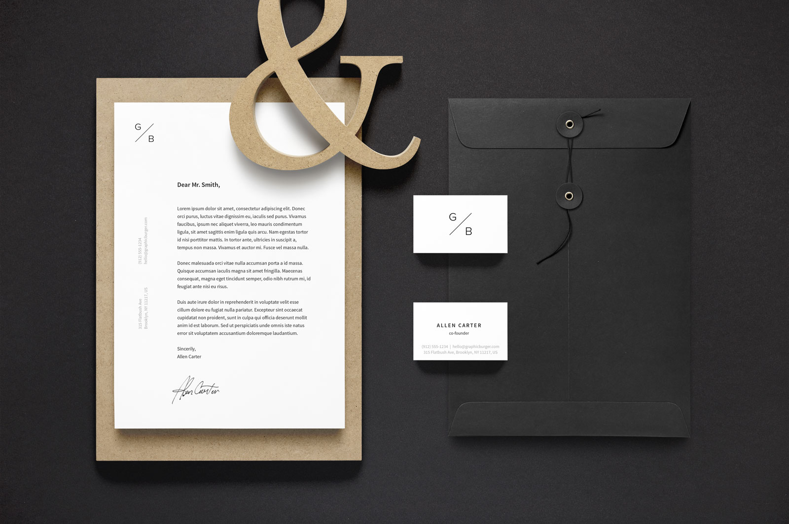 Free-A4-Letterhead-&-Business-Card-Stationery-Mockup-PSD