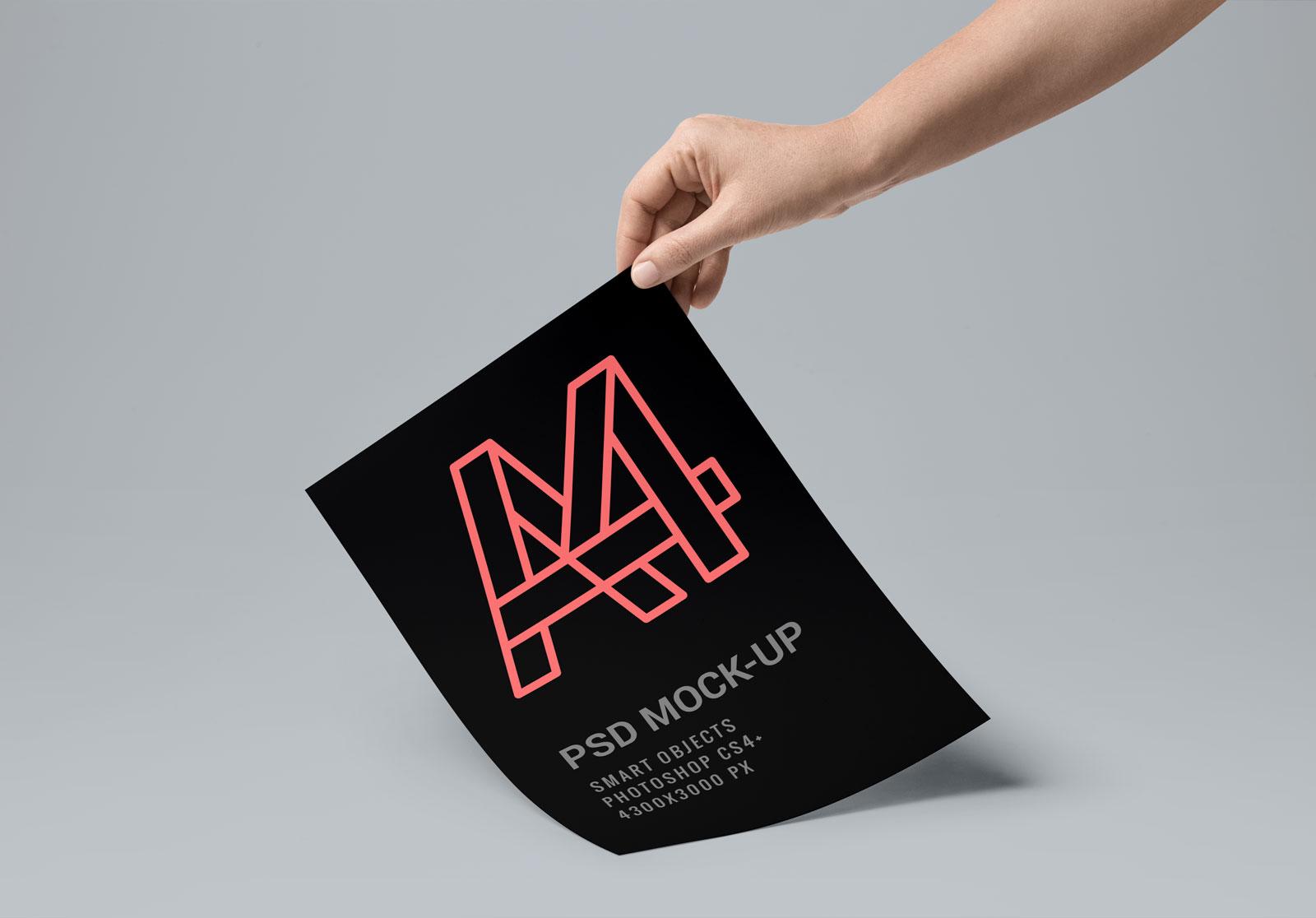 Free-A4-Paper-Mockup-PSD-File