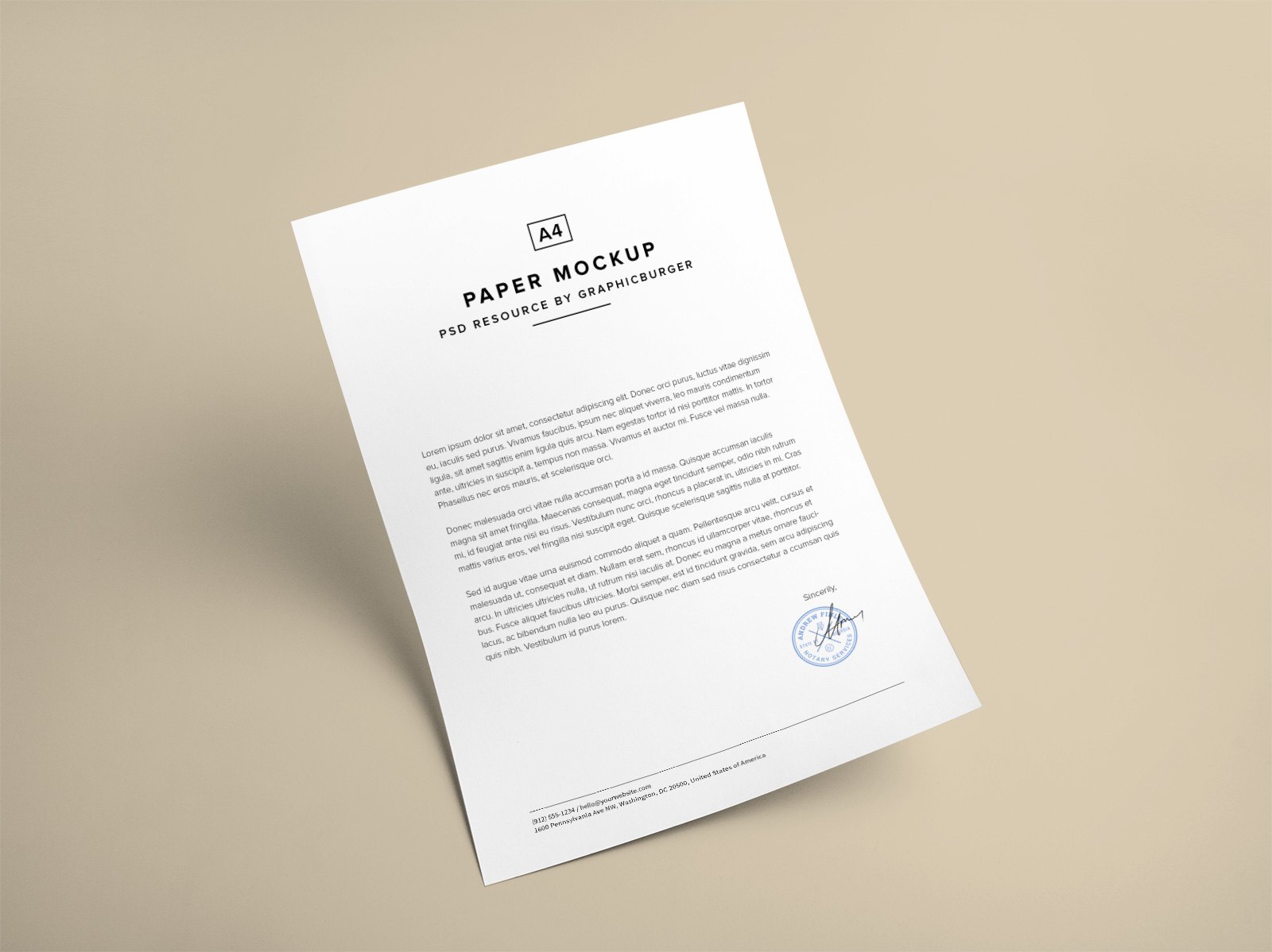 Free-A4-Paper-Mockup-PSD-file