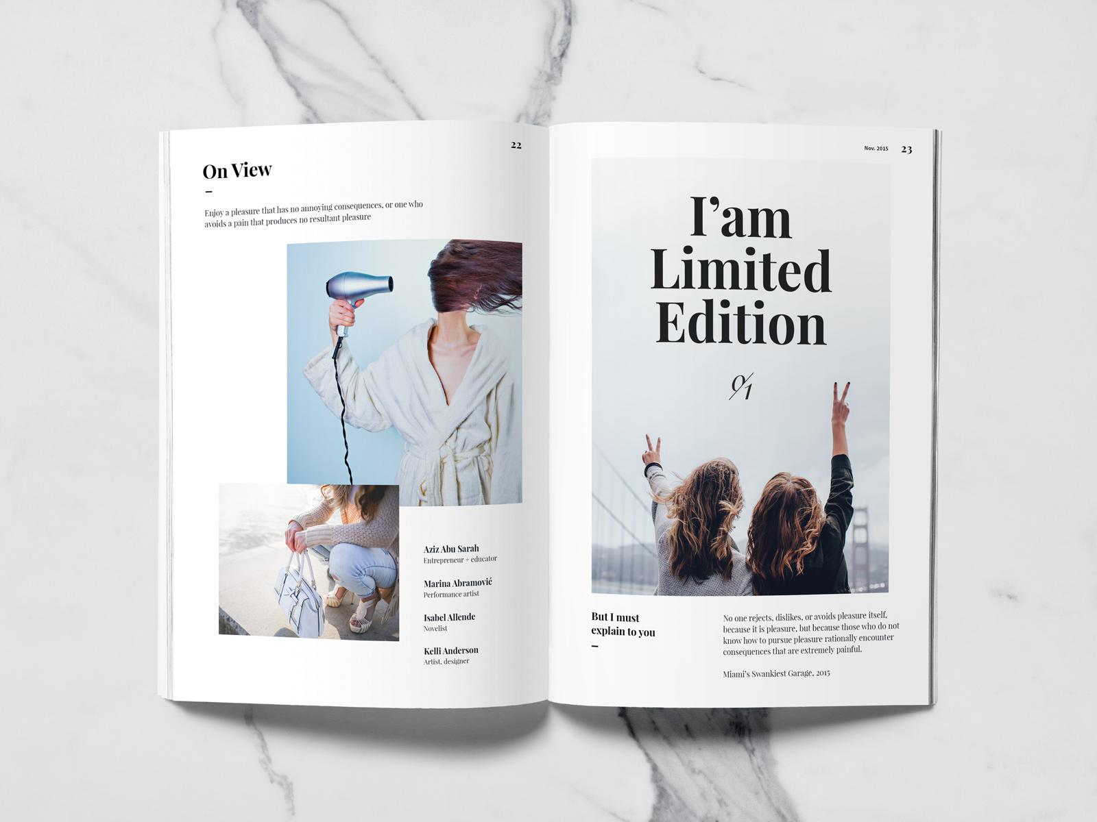 magazine mock up