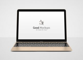 Free-Apple-MacBook-Mockup-PSD-Gold
