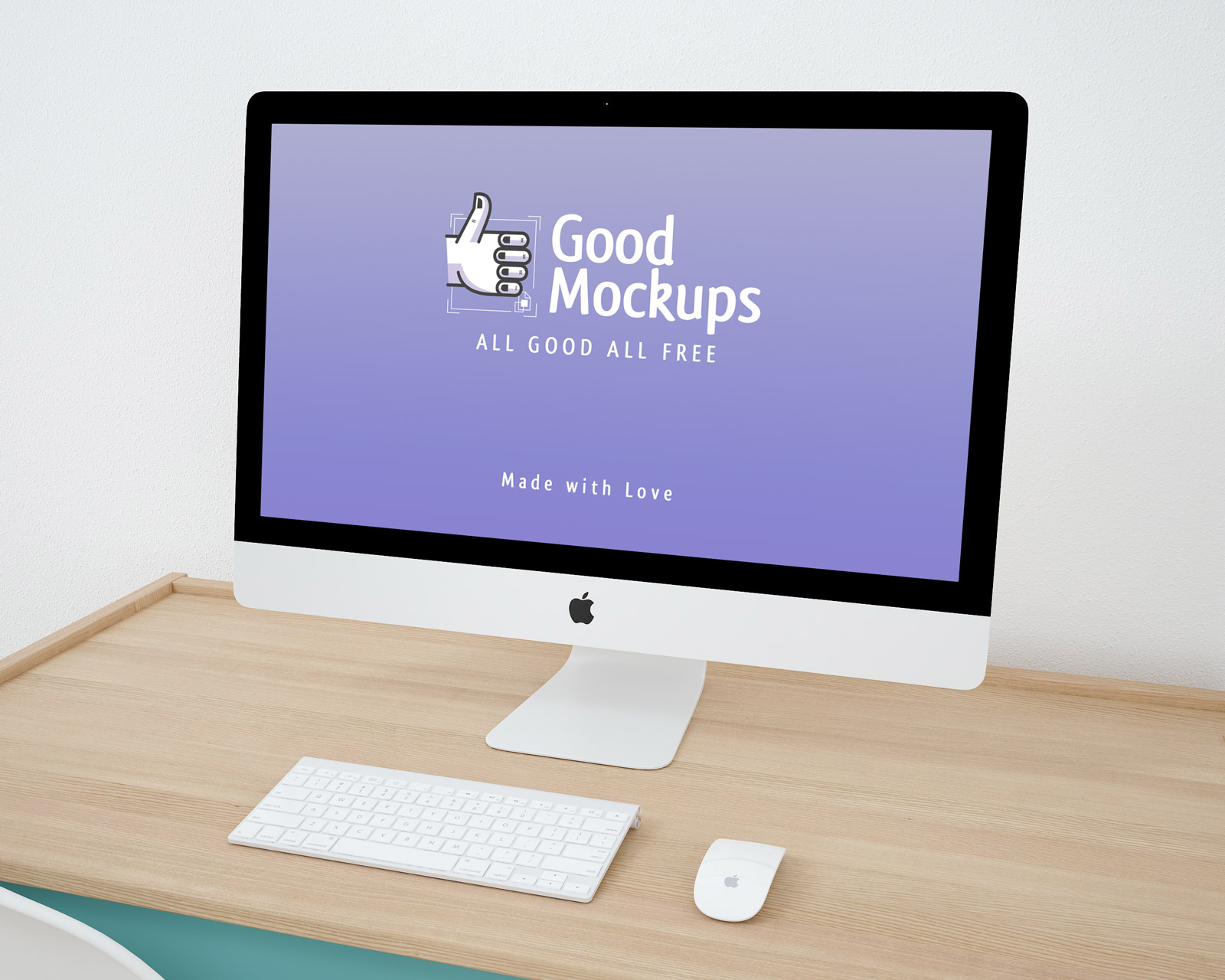 Free Apple iMac Website Template Mock-up PSD - Good Mockups