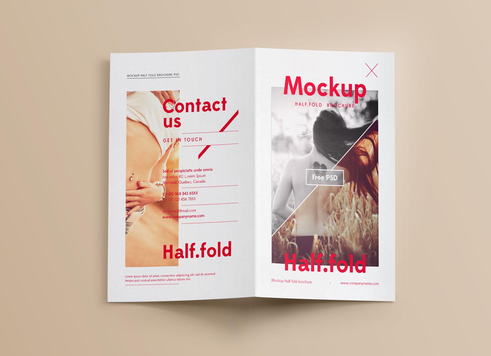 free realistic bi fold brochure mockup psd good mockups