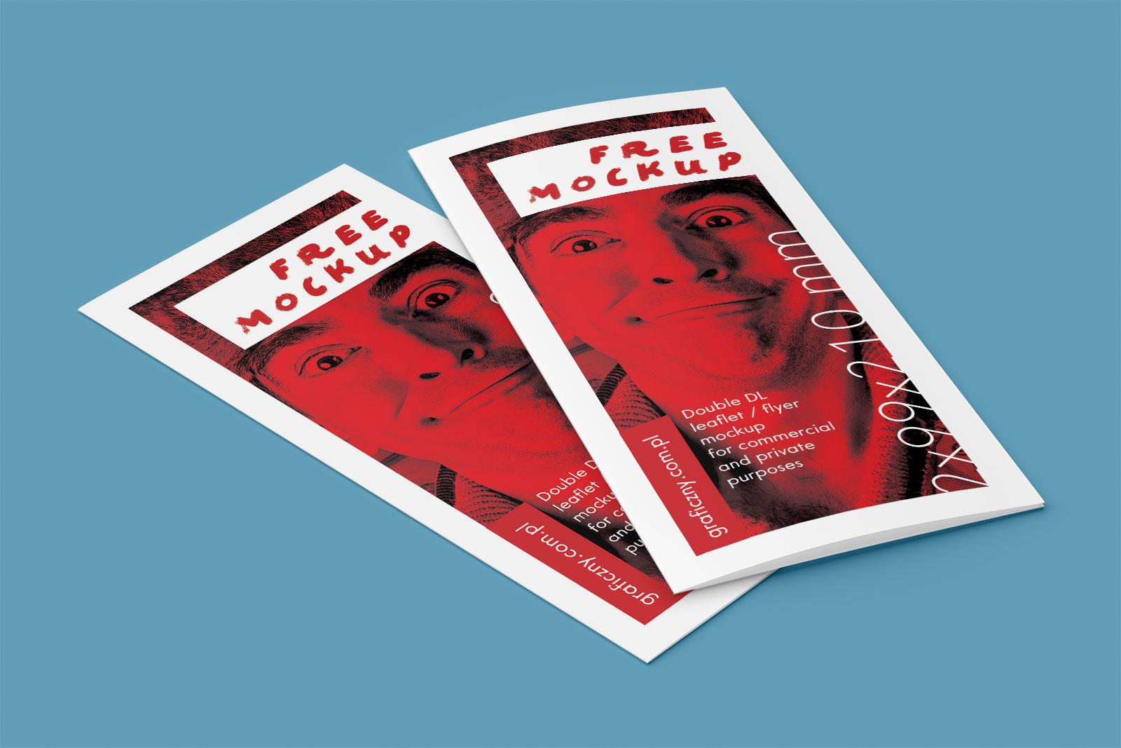 Free Bi-Fold Leaflet Mockup PSD