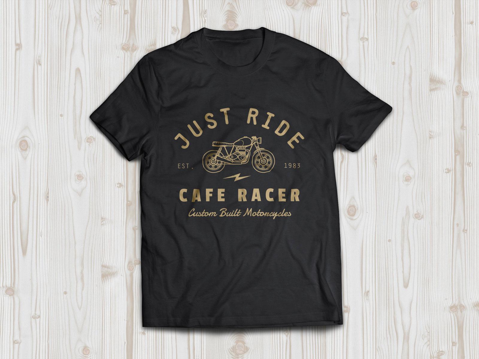 Free-Black-Half-Sleeves-T-shirt-Mockup-PSD-Frontside