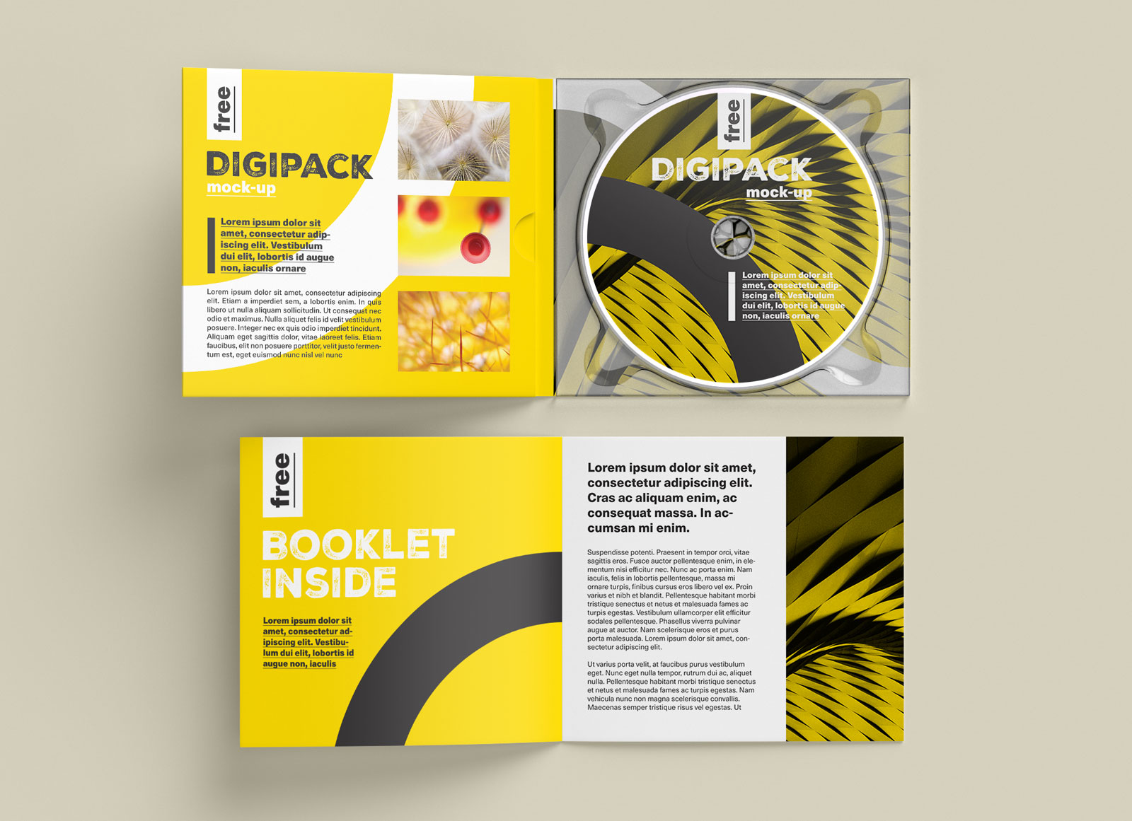 Free CD / DVD Case & Booklet Mockup PSD - Good Mockups