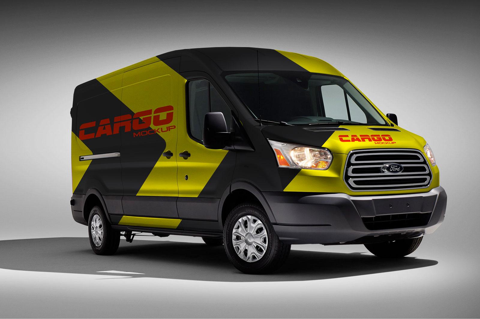 Free-Cargo-Van-Vehicle-Branding-Mockup-PSD-Frontside
