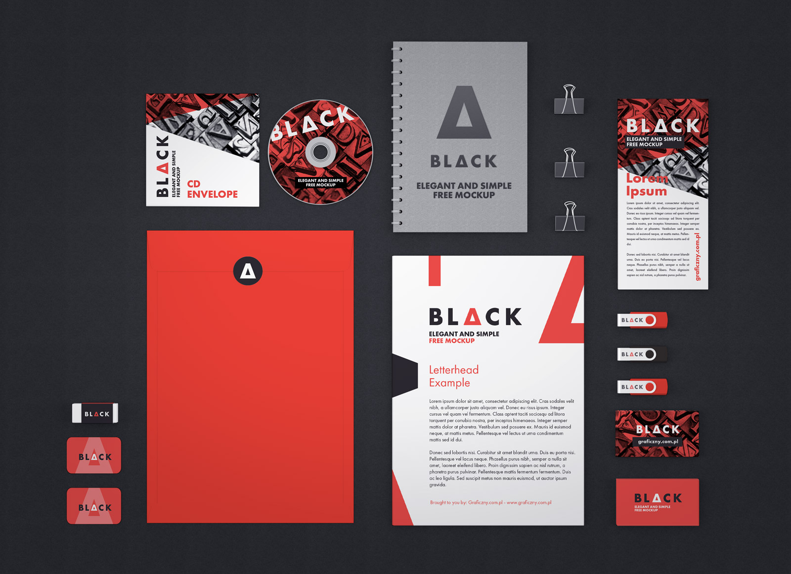best free corporate identity stationery mockup psd files