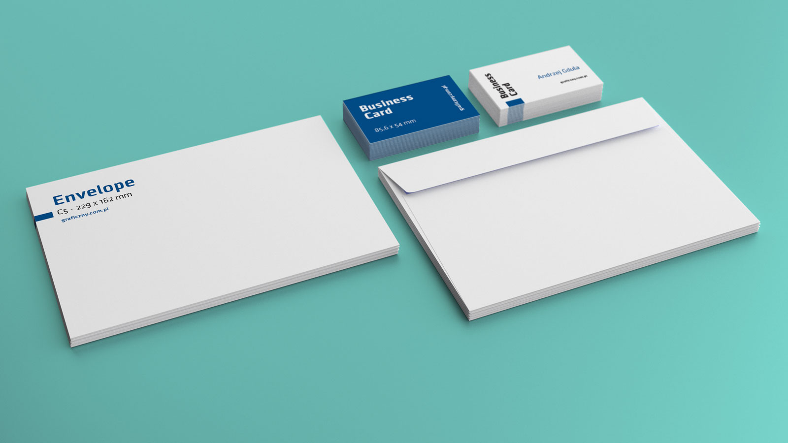 ... Free Envelop Business Card Mockup PSD ...
