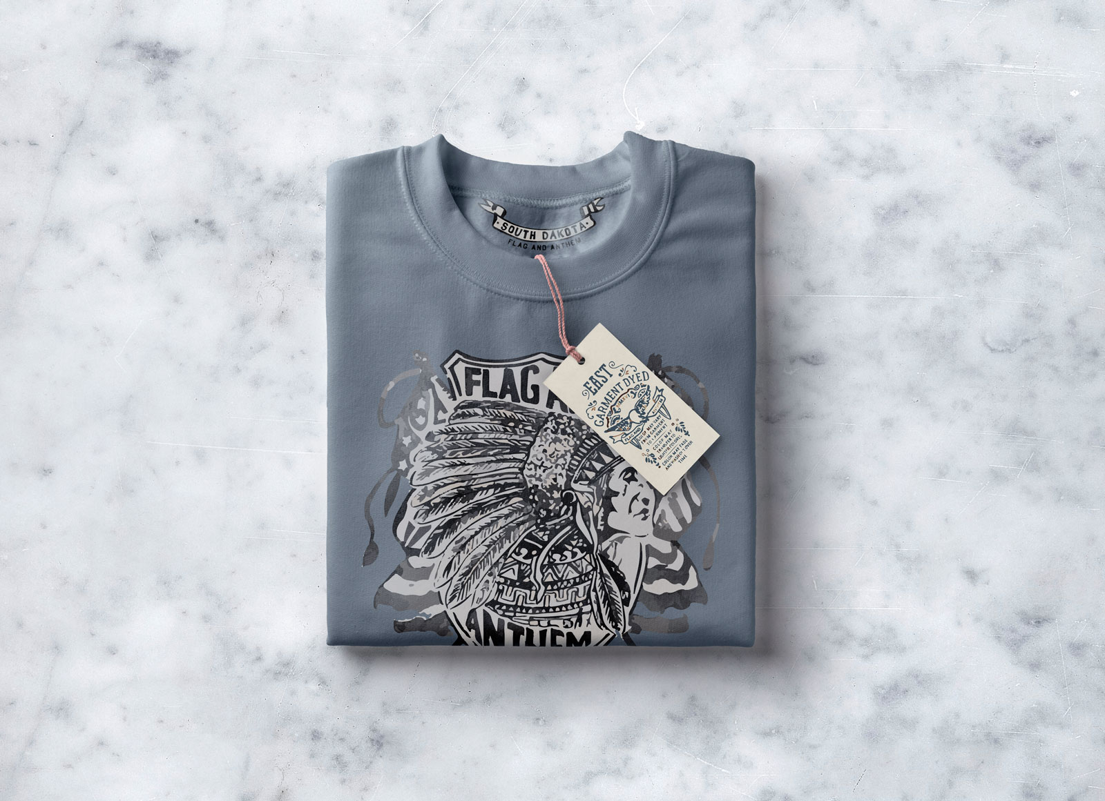 Free Folded T Shirt With Tag Mockup Psd Good Mockups