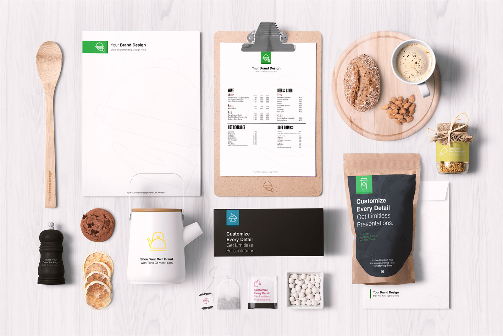 Free-Food-Packaging-&-Branding-Mockup-PSD