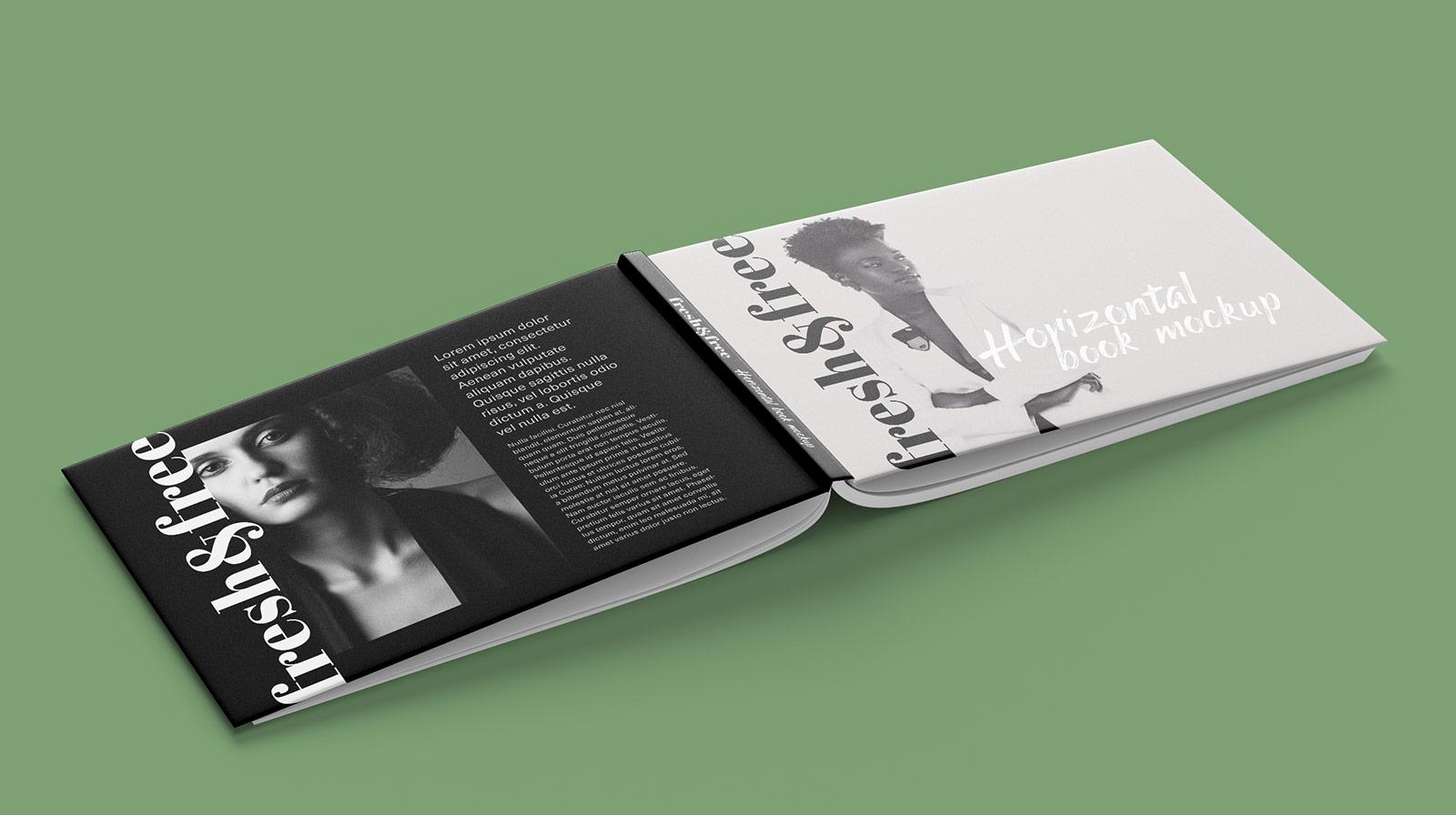 Free Horizontal A4 Size Book Mockup PSD (1)