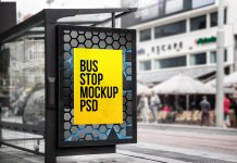 Free-Outdoor-Advertising-Bus-Stop-Mockup-PSD