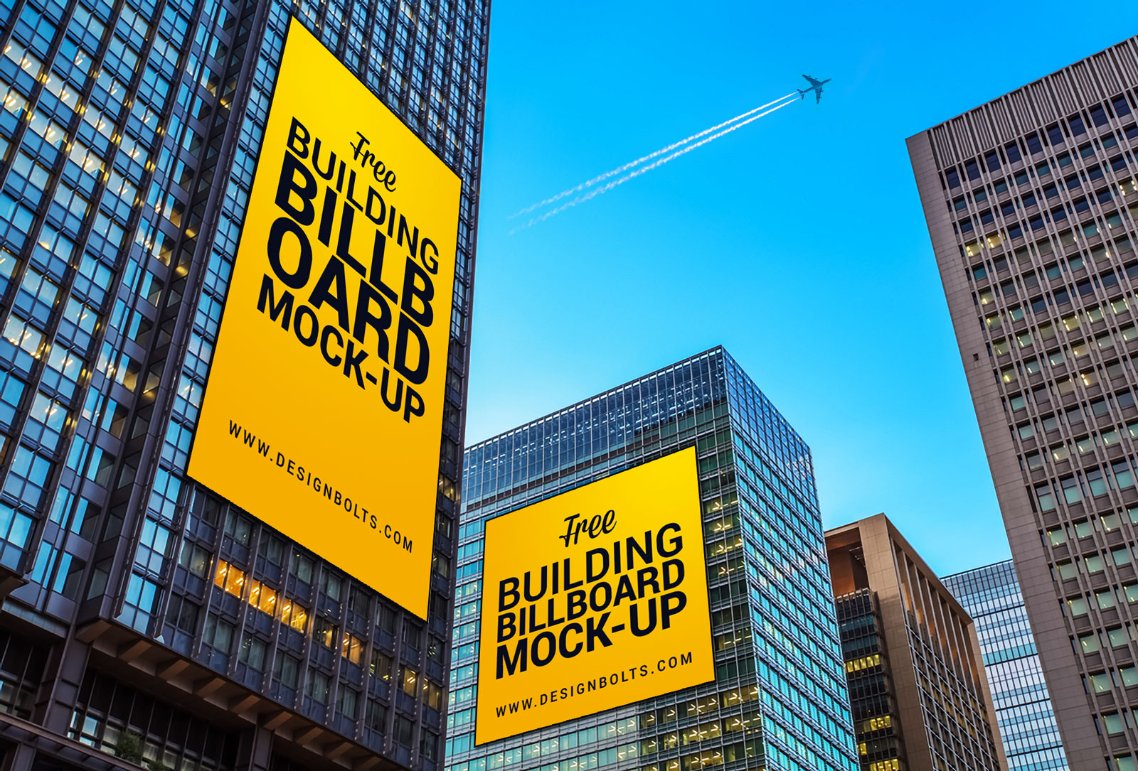 Free Outdoor Advertising Building Billboard Mockup PSD ...