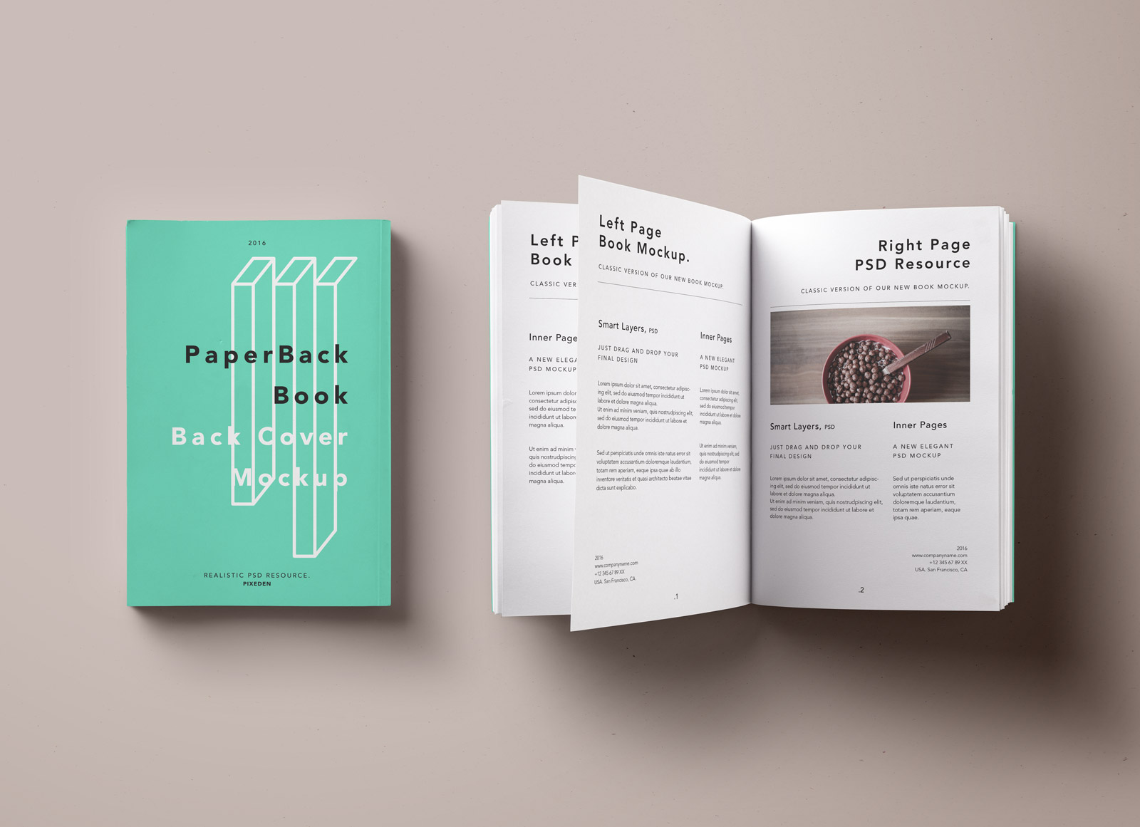 free paperback book  u0026 inner pages mockup psd