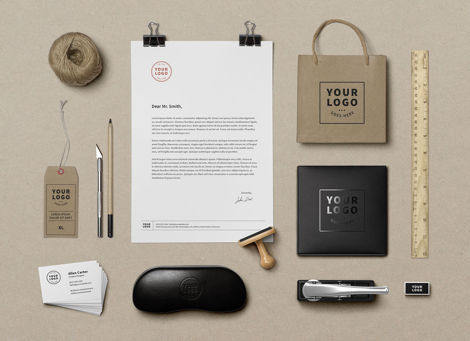 Free-Premium-Corporate-Identity-Mockup---Stationary-Mockup-PSD