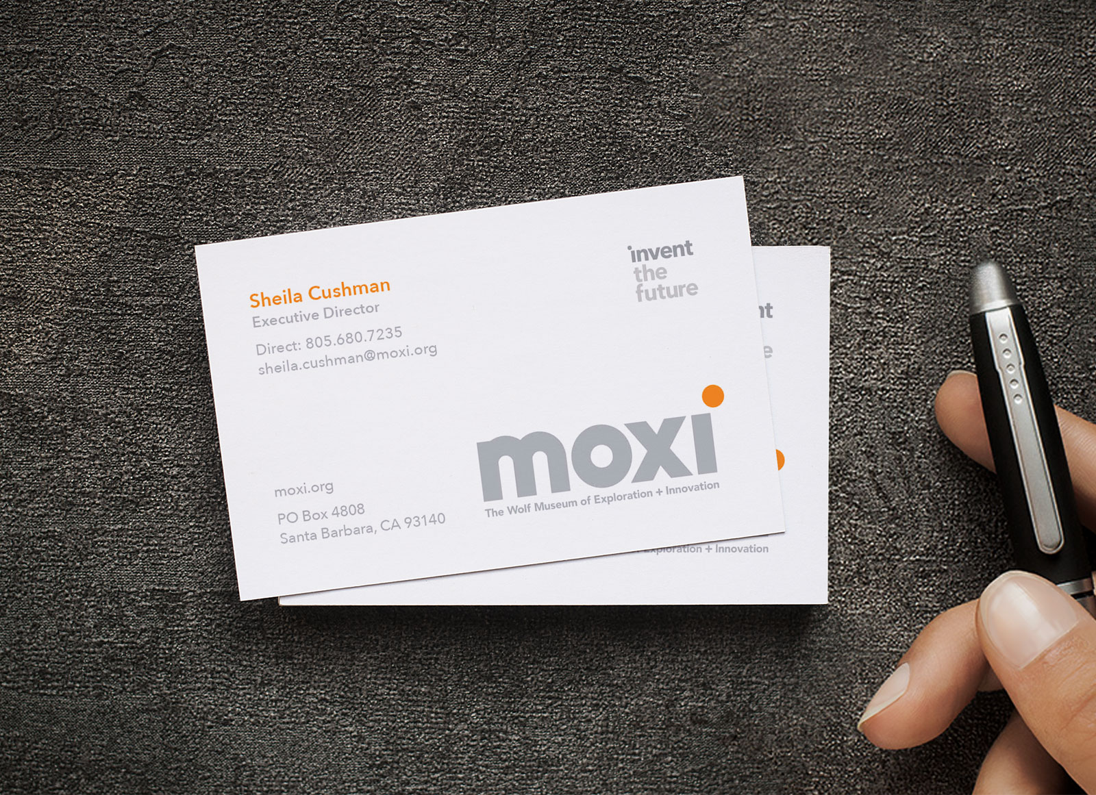 Free One Sided White Business Card Mockup PSD - Good Mockups