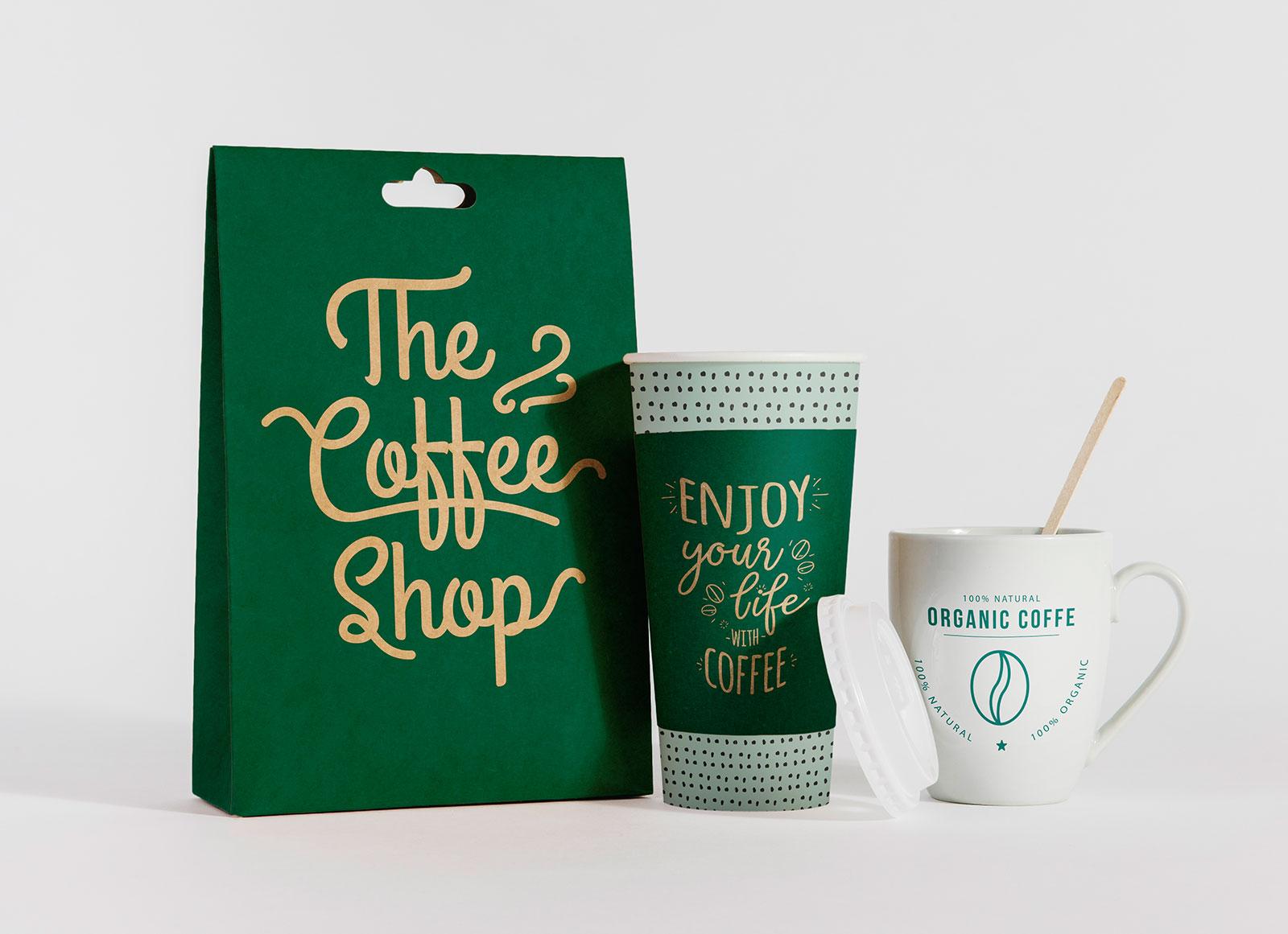 Free-Take-Away-Coffee-Cup-&-Burger-Packaging-Mockup-PSD