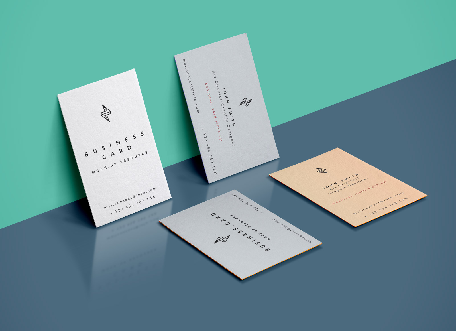 free vertical edge painted business card mockup psd  good