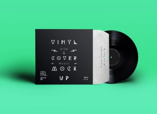 Free-Vinyl-Record-and-Cover-Packaging-Mockup-PSD