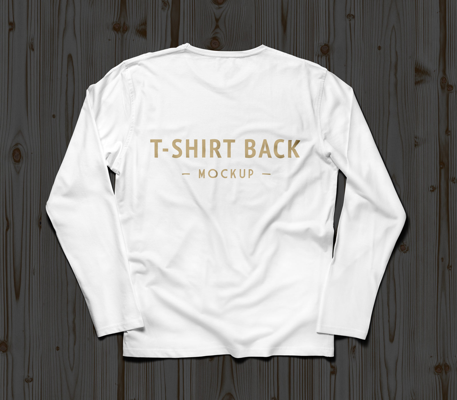 Free full sleeves t shirt mockup psd front back good for White t shirt mockup