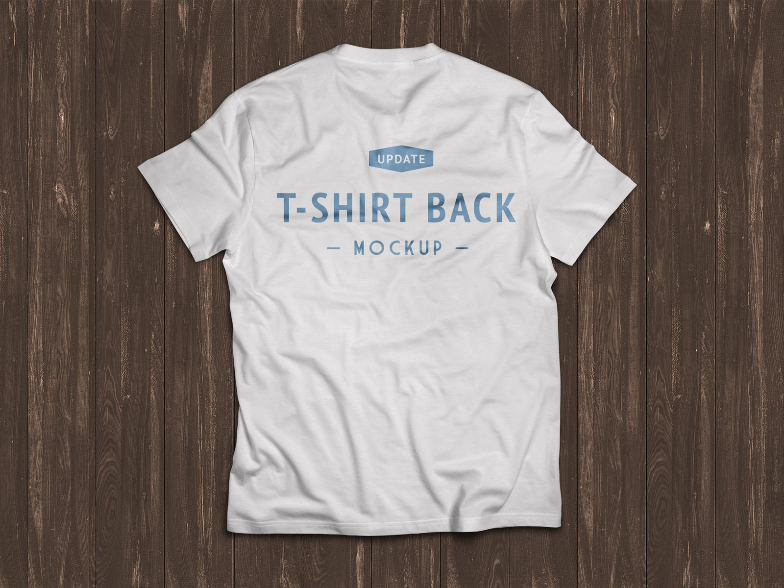 Free-White-Half-Sleeves-T-shirt-Mockup-PSD-Backside