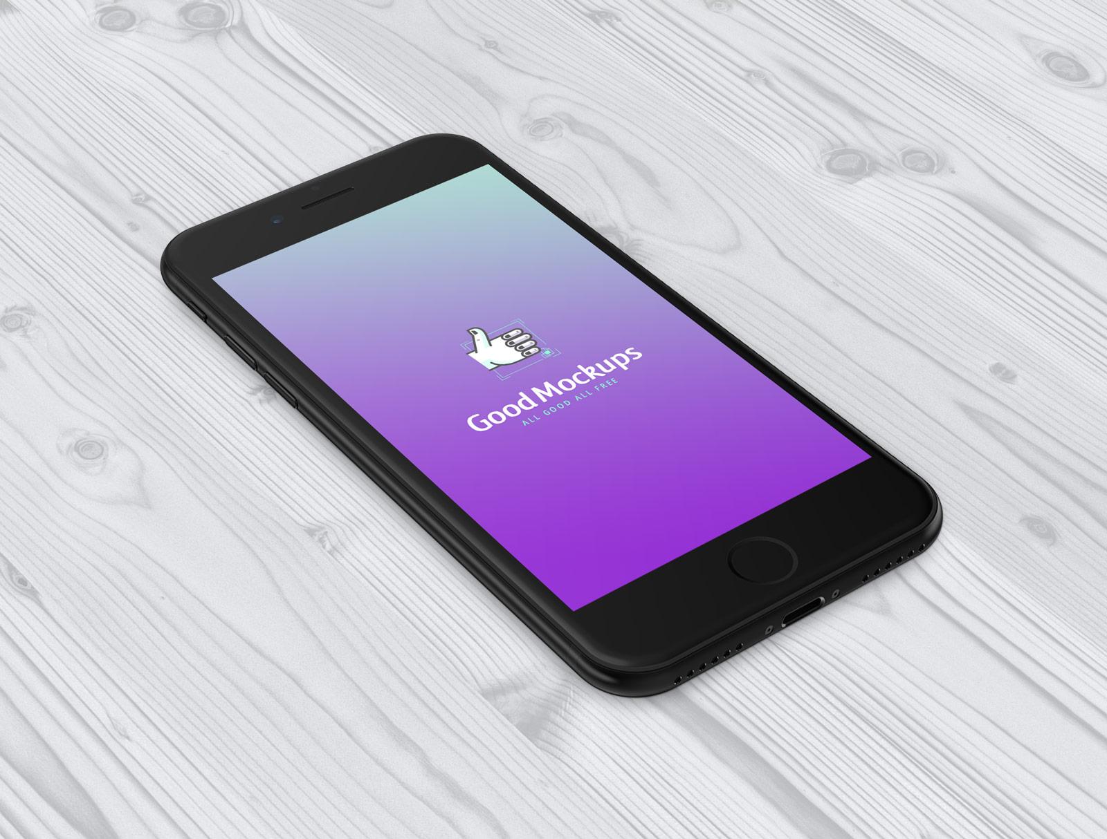 Free-iPhone-7-Jet-Black-Sketch-PSD-Mockup-2
